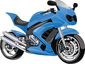 Racing Motorcycle, illustration