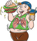 Fat Teenager, illustration