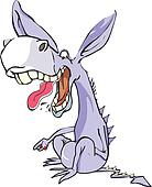 Funny Purple Donkey, illustration