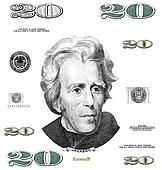 Photo twenty 20 dollar $ bill eleme