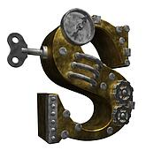 steampunk letter s