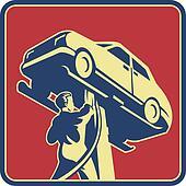 Mechanic Technician Car Repair Retro