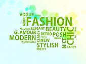 Words of the fashion, light bg