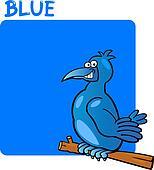 Color Blue and Bird Cartoon