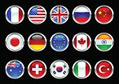 Glossy World Flags