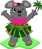 Hula Mouse with a Palm Tree
