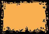 halloween black border