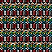 Ethnic carpet, seamless background with geometric shapes