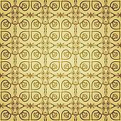 vector seamless floral golden pattern