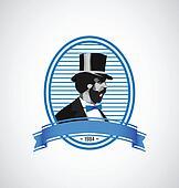 Logo template - vintage man illustration