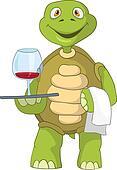 Funny Turtle. Waiter.