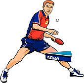 Ping Pong Clip Art - Royalty Free - GoGraph