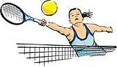 woman`s tennis