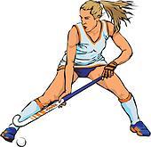 Field Hockey Clip Art - Royalty Free - GoGraph