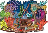Coral shipwrecked