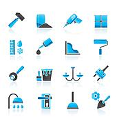 Construction and building icons