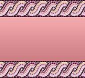 Wave mosaic seamless pattern