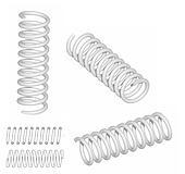 3D render of coil spring