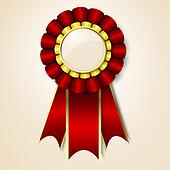 Red vecor prize ribbon