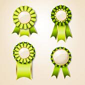 Geen prize trophy ribbon