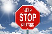 Help stop bullying stop sign