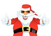 Cartoon Smiling Santa Claus