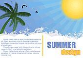 Abstract summer design