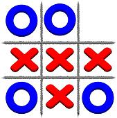 Vector Tic Tac Toe background. Eps 10