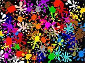 Multi Splatter Wallpaper