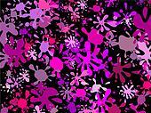 Pink Splatter Wallpaper