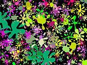 Pink Green Splatter Wallpaper