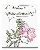 Vector card with tropical flower