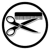 haircut or hair salon symbol