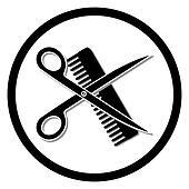 Clip Art Hair Stylist Clipart hair stylist clip art royalty free gograph dresser haircut or salon symbol