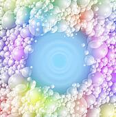 Colorful foam