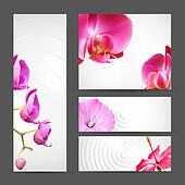 Flower Orchid brochure template