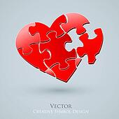 Conceptual Heart Vector Design. Creative Idea of Romantic Relati