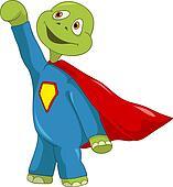 Funny Turtle. Superman.
