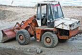 Excavator on site working