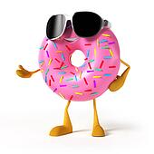A donut character