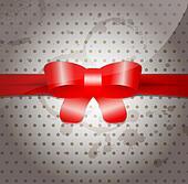 Celebratory background with bow