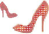 shoe love, vector