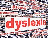 Dyslexia disability message conceptual design