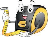 Tape Meter Mascot