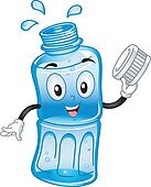 Bottled Water Mascot