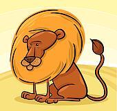 African Lion Cartoon