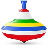 Spinning Top Clip Art - Royalty Free - GoGraph