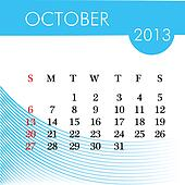 calendar for 2013 october illustration