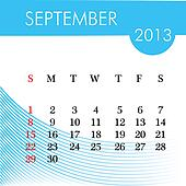 calendar for 2013 september illustration