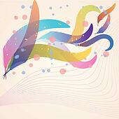 Background with feathers. EPS10
